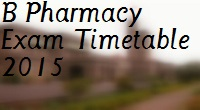 Pune-University-FY-SY-TY-Final-Year-B-Pharmacy-2008-2013-Pattern-Exam-Timetable-2015