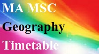 Pune University MA MSC Geography Sem 1 to 4 2008 2013 pattern Timetable 2015