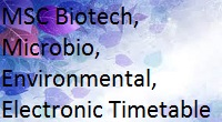 unipune MSc Biotechnology, Microbiology, Environmental, Electronic Science Sem I to IV 2008, 2013 Pattern Timetable may 2015