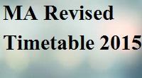 Ma Exam Pune University Time Table 2015, Unipune Date