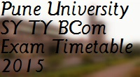 Pune-University-SY-TY-BCom-Exam-Timetable-Schedule-Date-2015