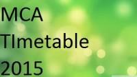 Pune University Unipune MCA Science Exam Timetable 2015