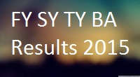 Pune University FYBA SYBA TYBA Exam Results 2015