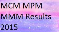 Pune University Unipune MCM MPM MMM Results