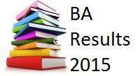 Pune University BA Results 2015