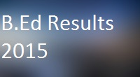 Pune University B.ed Results 2015