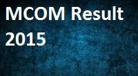 MKCL MCom Result 2015