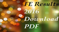 unipune fe results 2016