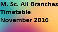 Savitribai Phule Pune University FY SY BSc. MSc. Timetable of November 2016 Exam