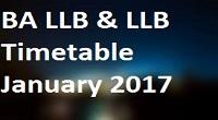 pune university ba llb and llb timetable 2017
