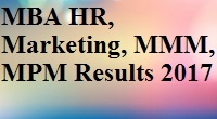 MBA HR Marketing 2017 result sppu pdf download mpm mmm