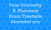 Pune University B. Pharmacy Timetable