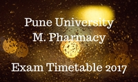 Unipune M. Pharm Exam timetable 2017
